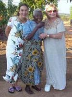 "Levani (on left) and her mother (on right) with ""Granny"" - who raised 15 AIDs orphans"
