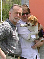 Robert D.Schoenhals and Jill A. Warren (with Snickers)