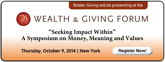 Bolder Giving presenting at Wealth & Giving Forum