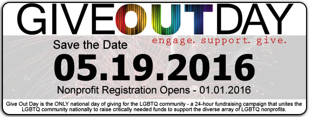 GiveOutDay - Save the Date: 05.19.2016, nonprofit registration opens 01.01.2016