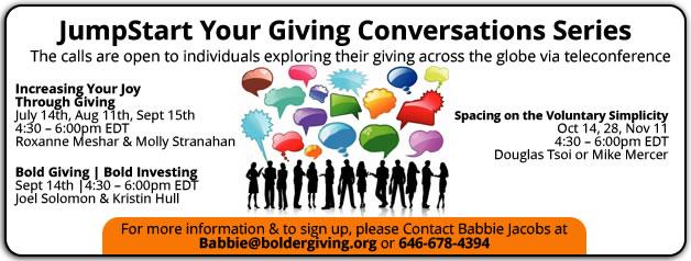 JumpStart Your Giving Conversations Series